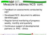 measure to address ncs cont