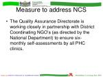 measure to address ncs1