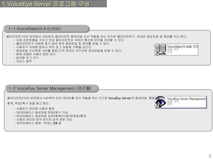 1.VoiceEye Server