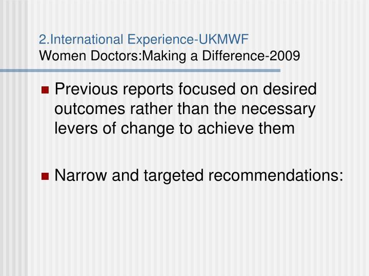 2.International Experience-UKMWF