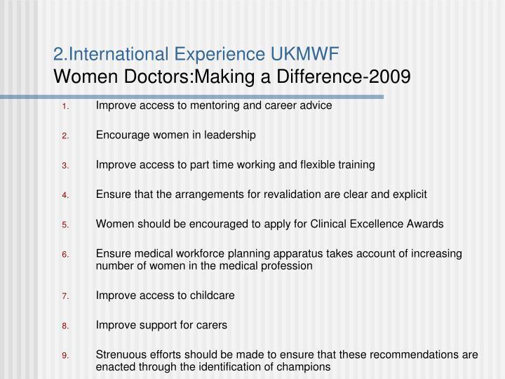 2.International Experience UKMWF