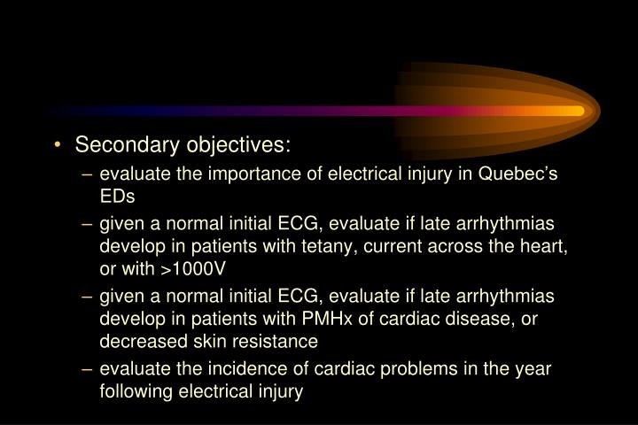 Secondary objectives:
