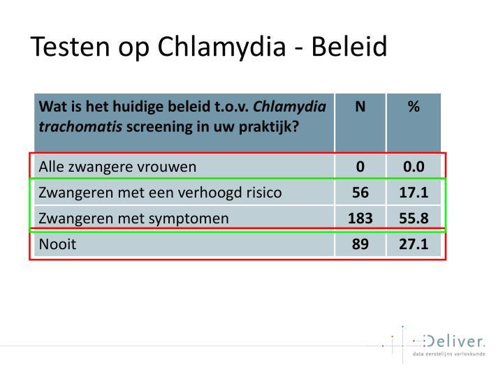 Testen op Chlamydia - Beleid