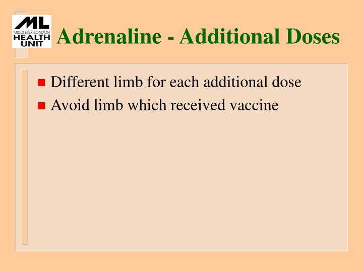 Adrenaline - Additional Doses