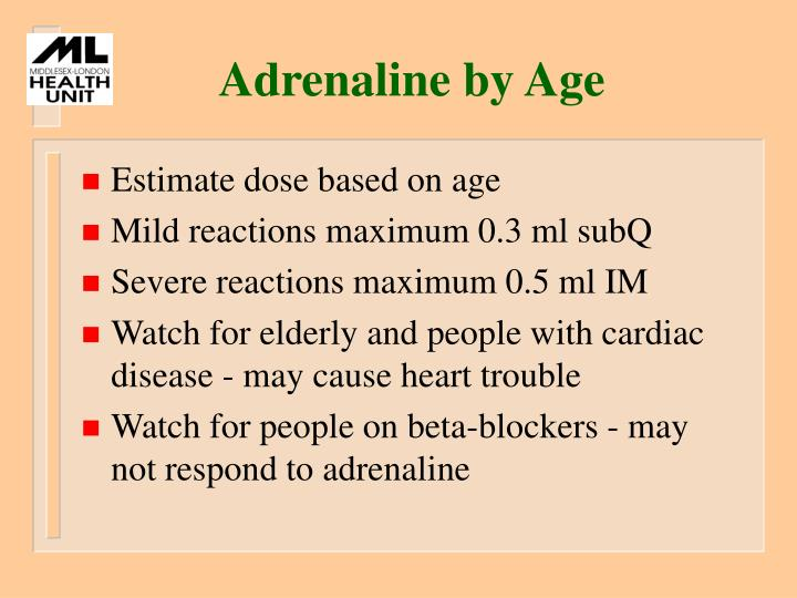 Adrenaline by Age