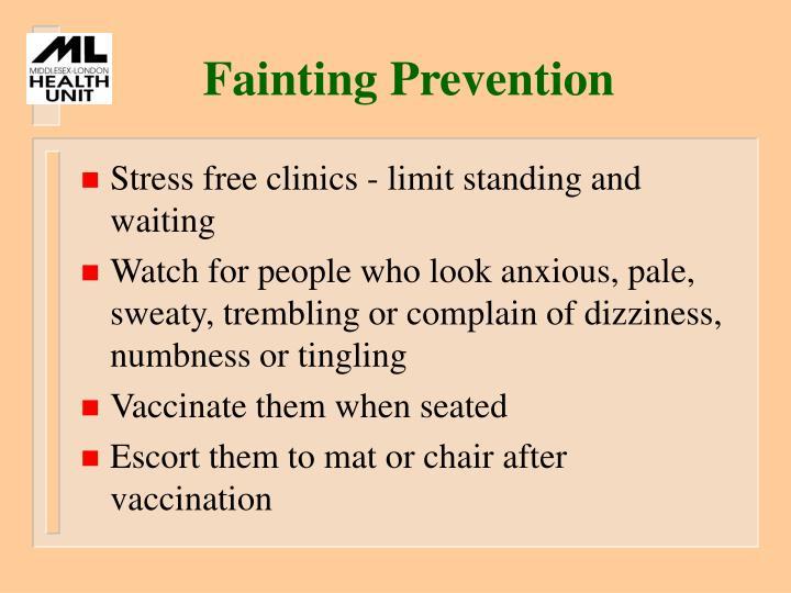 Fainting Prevention
