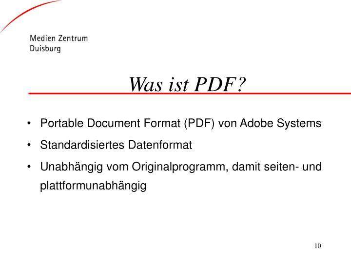 Was ist PDF?