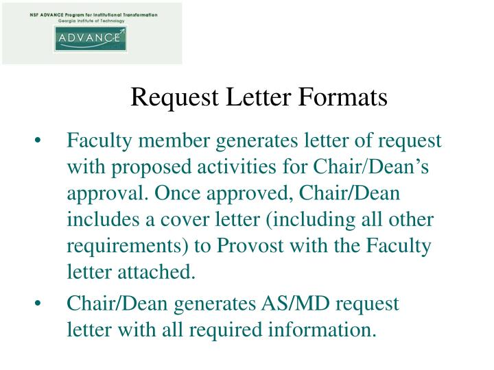 Request Letter Formats