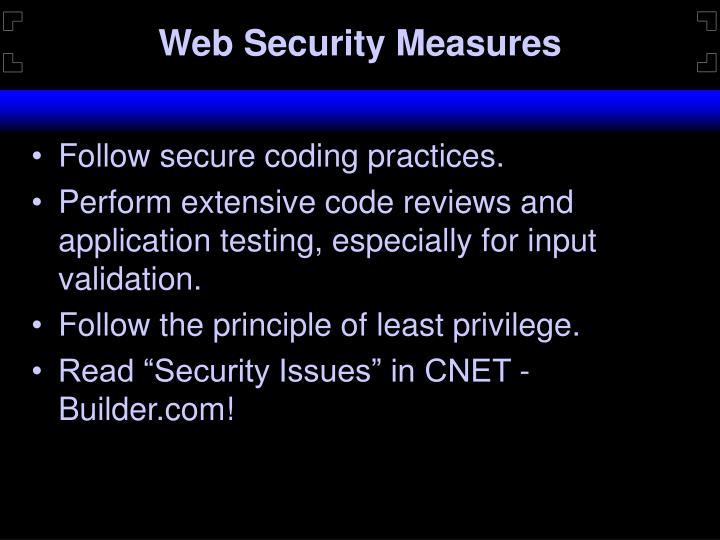 Web Security Measures