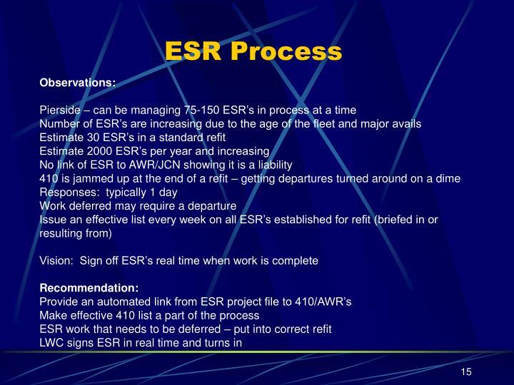 ESR Process