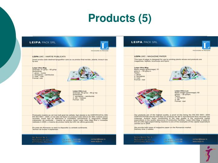 Products (5)