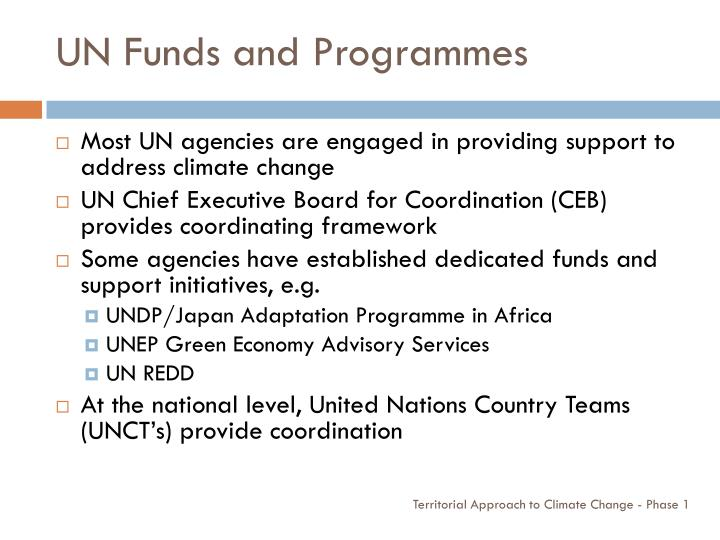 UN Funds and Programmes