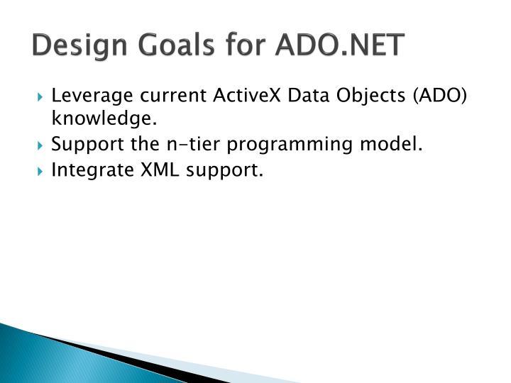 Design Goals for ADO.NET