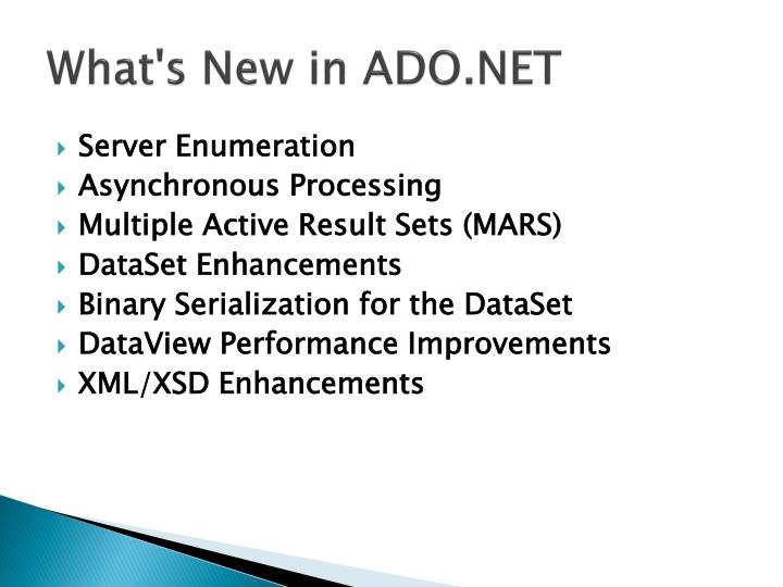 What's New in ADO.NET