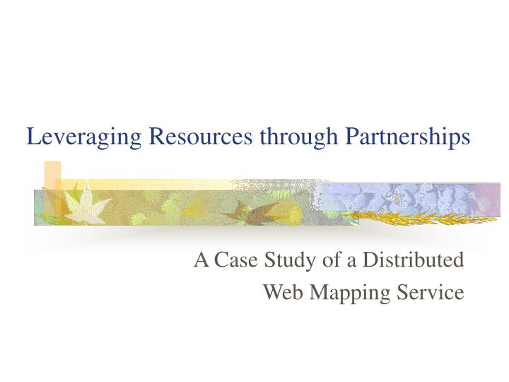 leveraging resources through partnerships