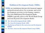 multilateral development banks mdbs
