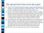 the spread of the crisis across the region