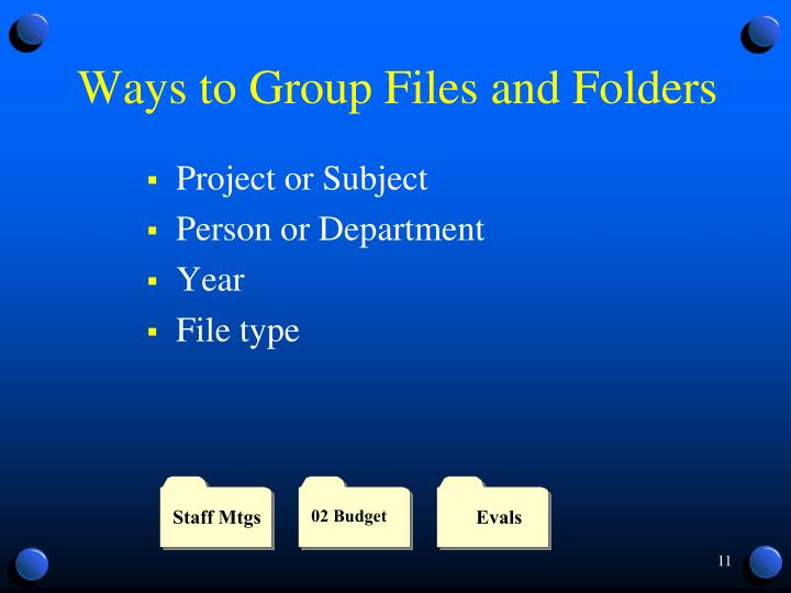 Ways to Group Files and Folders