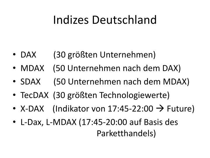 Indizes Deutschland