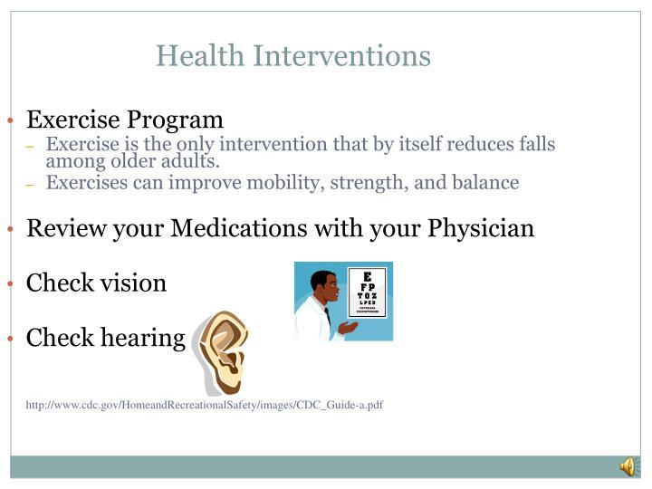 Health Interventions