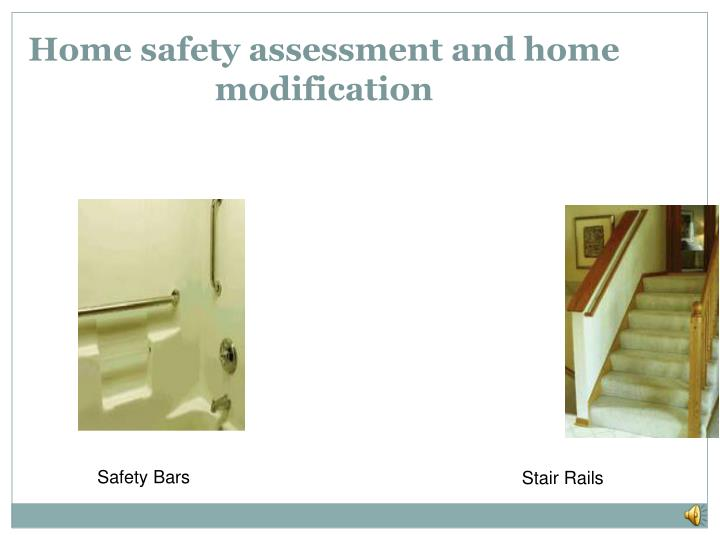 Home safety assessment and home modification