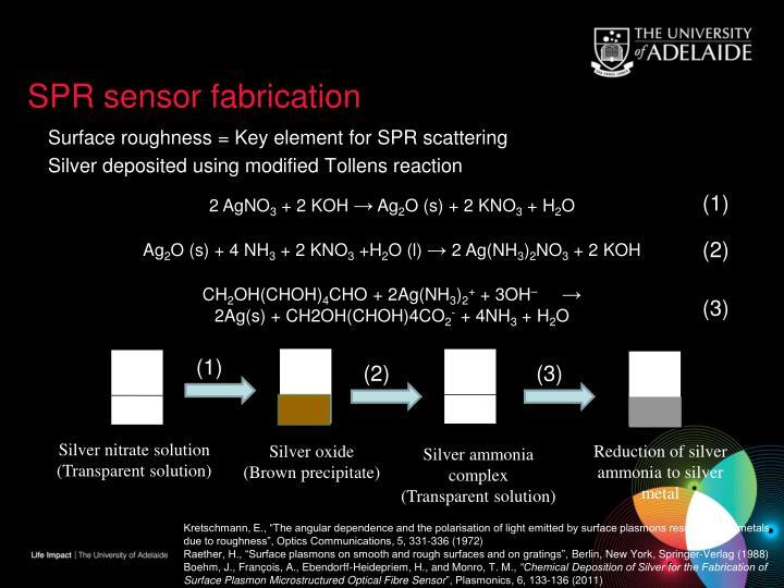SPR sensor fabrication