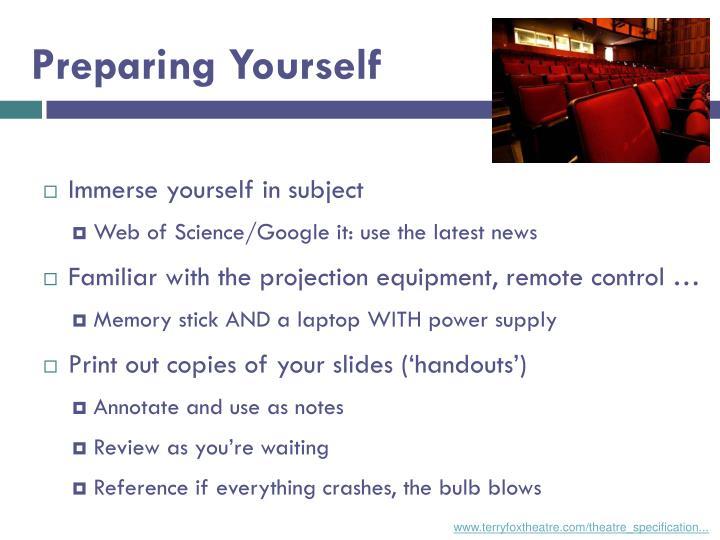 Preparing Yourself
