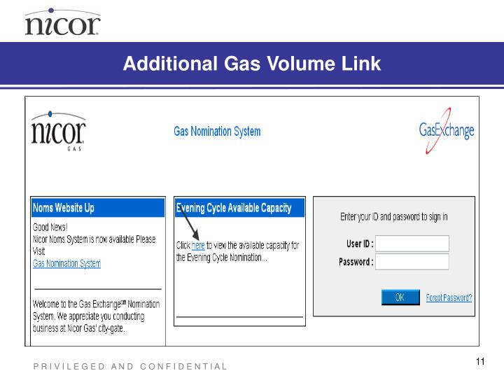 Additional Gas Volume Link
