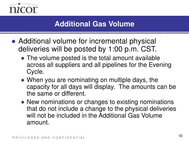 Additional Gas Volume