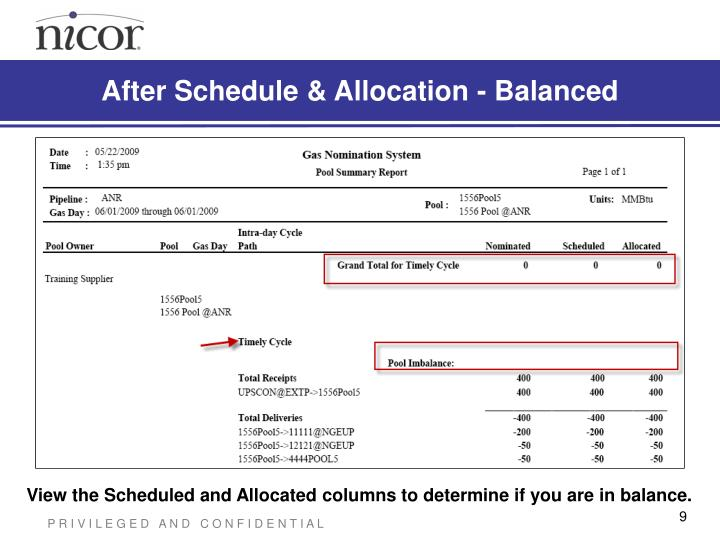 After Schedule & Allocation - Balanced