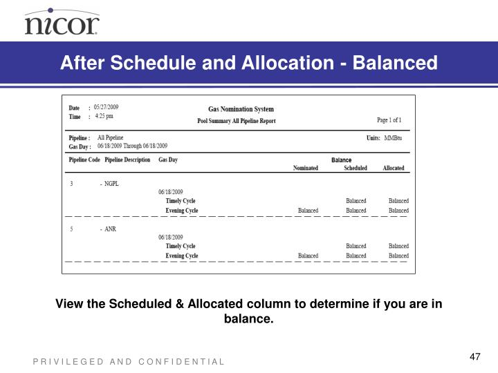 After Schedule and Allocation - Balanced