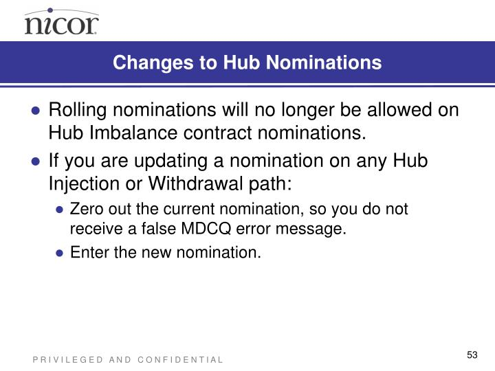 Changes to Hub Nominations