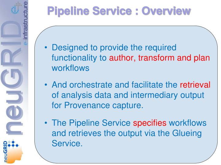 Pipeline Service : Overview