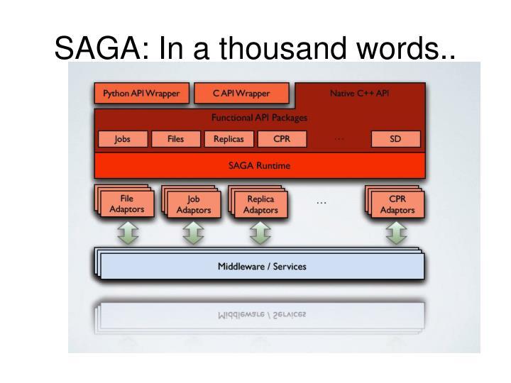 SAGA: In a thousand words..