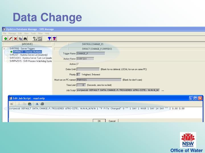 Data Change