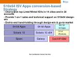 s10x64 isv apps conversion based strategy