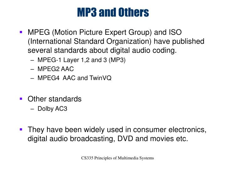 MP3 and Others