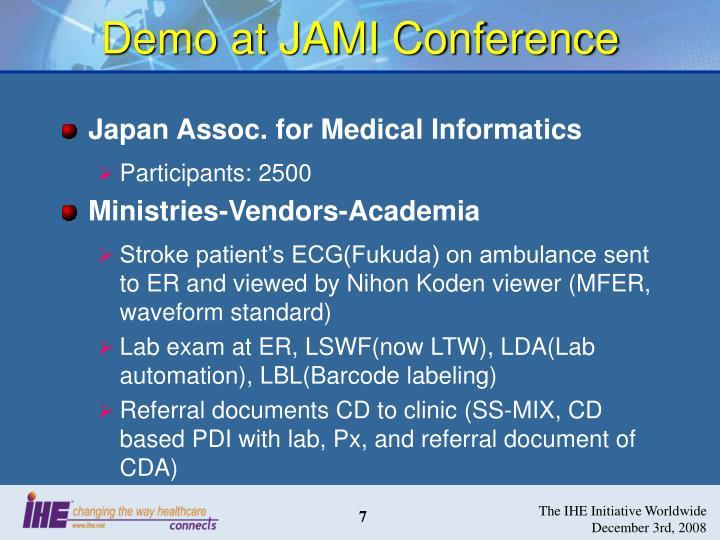 Demo at JAMI Conference