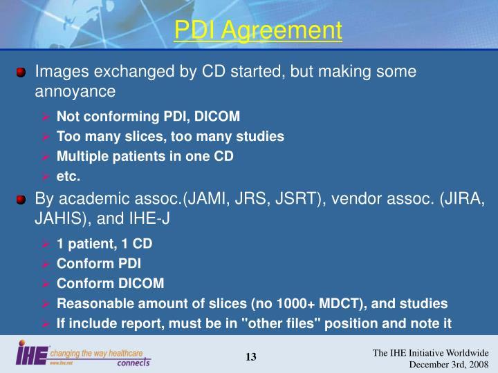 PDI Agreement