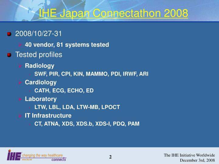 IHE Japan Connectathon 2008