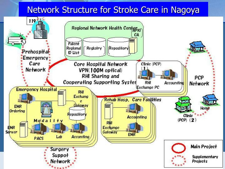 Network Structure for Stroke Care in Nagoya