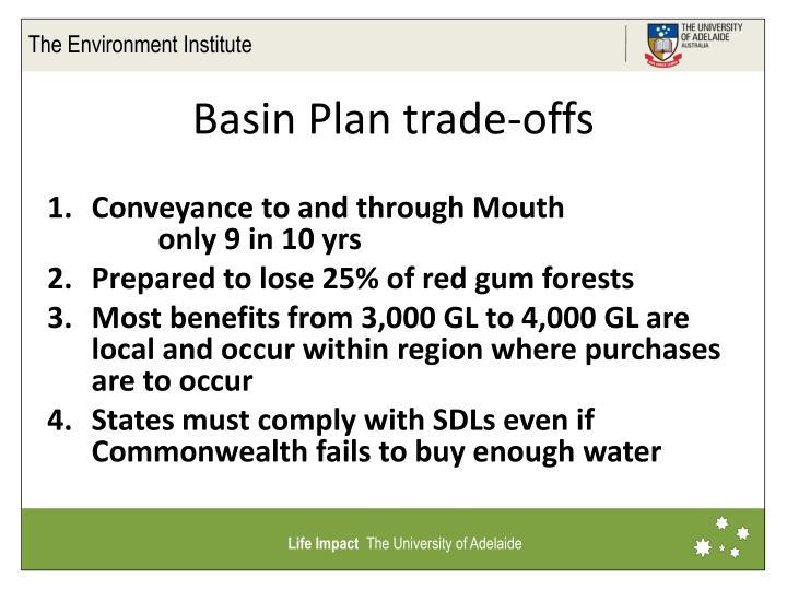 Basin Plan trade-offs