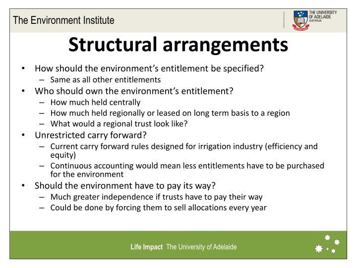 Structural arrangements