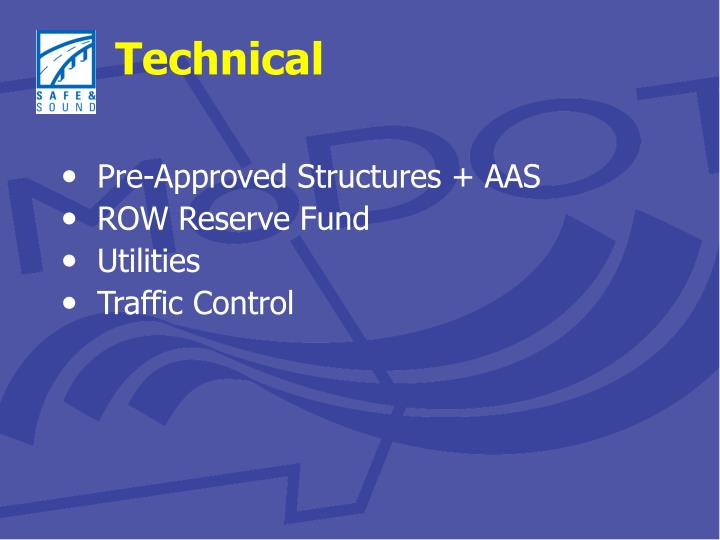 Pre-Approved Structures + AAS