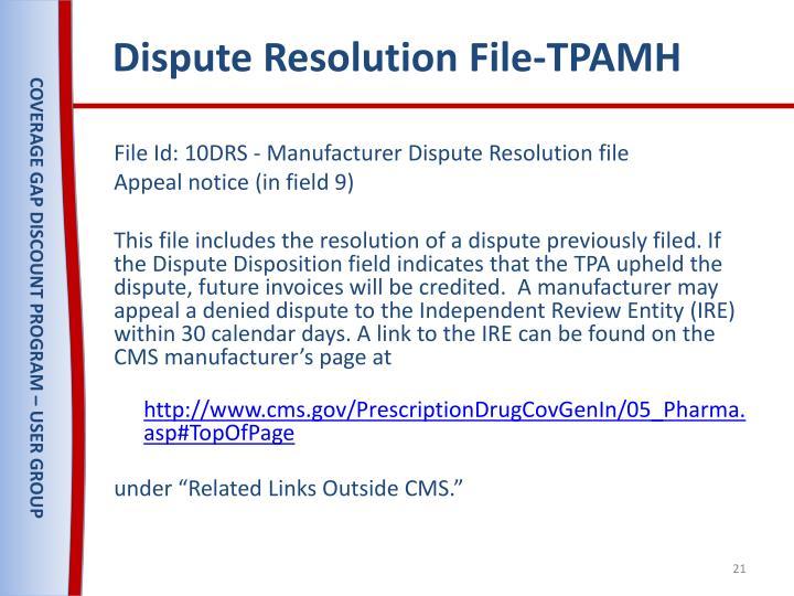 Dispute Resolution File-TPAMH