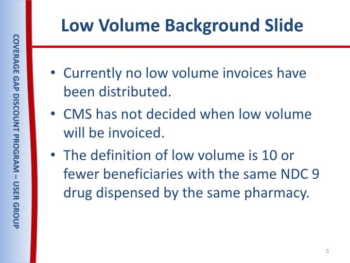 Low Volume Background Slide