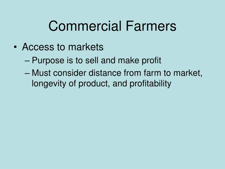 Commercial Farmers