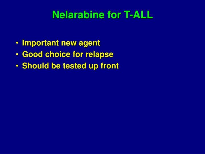 Nelarabine for T-ALL