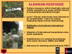 albanian response