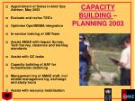 capacity building planning 2003